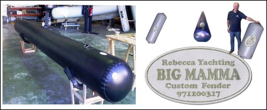 Custom made boat fenders (own production - Big Mamma)